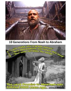 Noah to Abraham